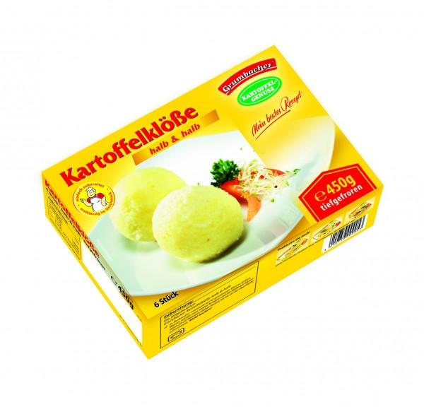 Grumbacher Kartoffelklöße halb und halb, 450g