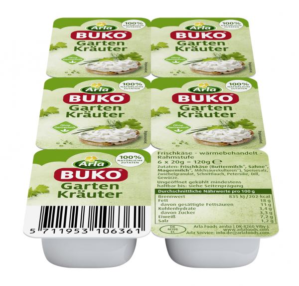 ARLA Buko Singelpack Gartenkräuter 6x20g