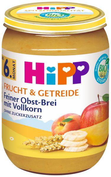 BIO HIPP feiner Obstbrei mit Vollkorn 190g