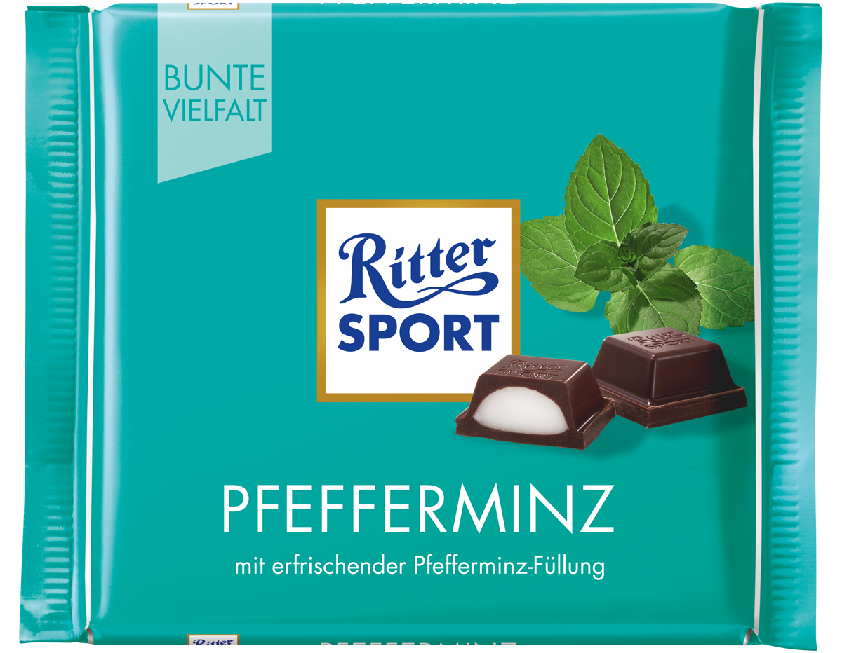 ritter sport pfefferminz 100g schokolade pralinen. Black Bedroom Furniture Sets. Home Design Ideas