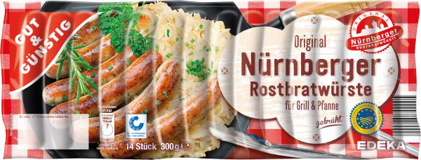 Gut & Günstig Nürnberger Rostbratwürste, 300g