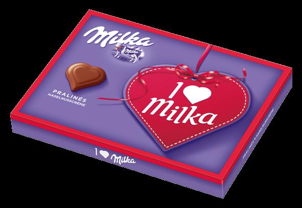 I Love Milka Nuss-Nougat Pralines, 110g