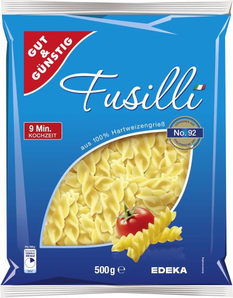 Gut & Günstig Fussili, 500g