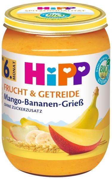 BIO HIPP Mango Bananen Griess 190g
