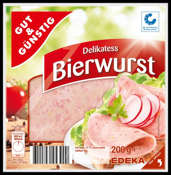 Gut & Günstig Delikatess Bierwurst, 200g