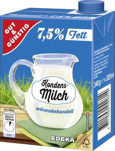 Gut & Günstig Kondensmilch 7,5% 340g
