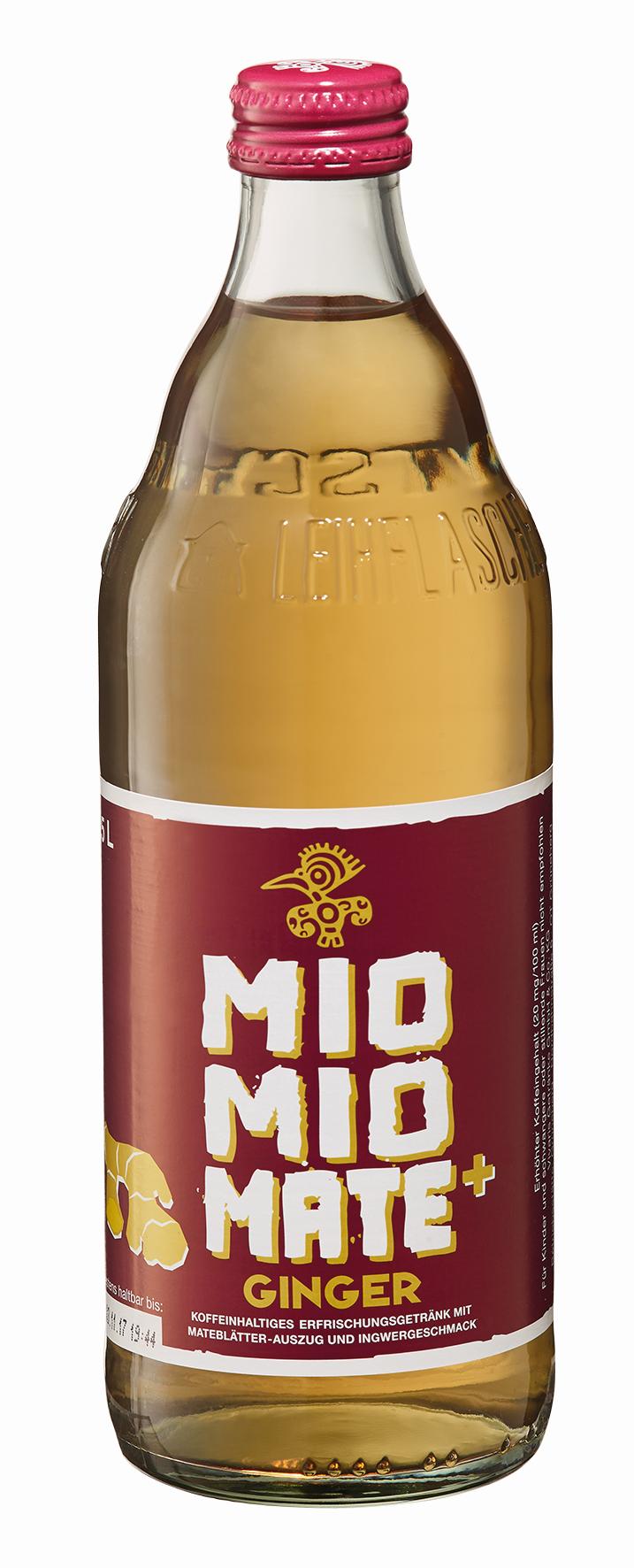 Mio Mio Mate + Ginger, 0,5L | Erfrischungsgetränke | Alkoholfreie ...