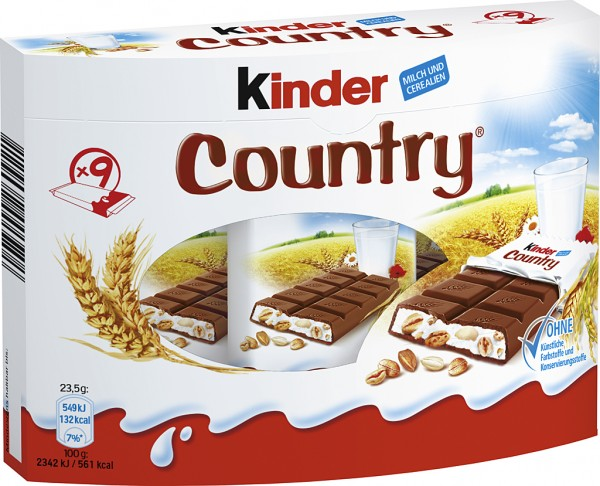 Ferrero Kinder Country, 9er