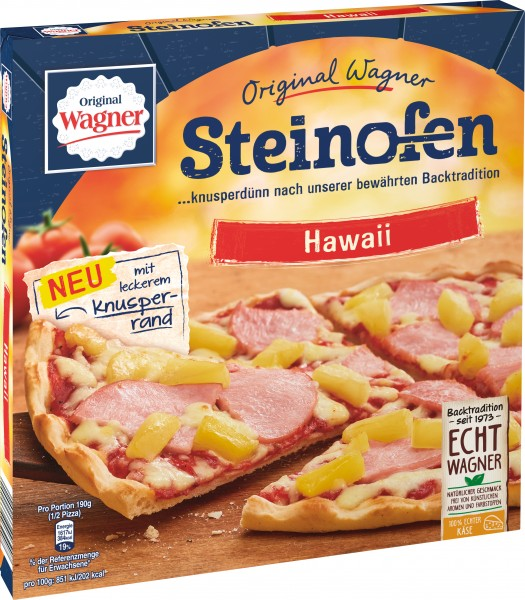 Original Wagner Steinofen Pizza Hawaii, 380g