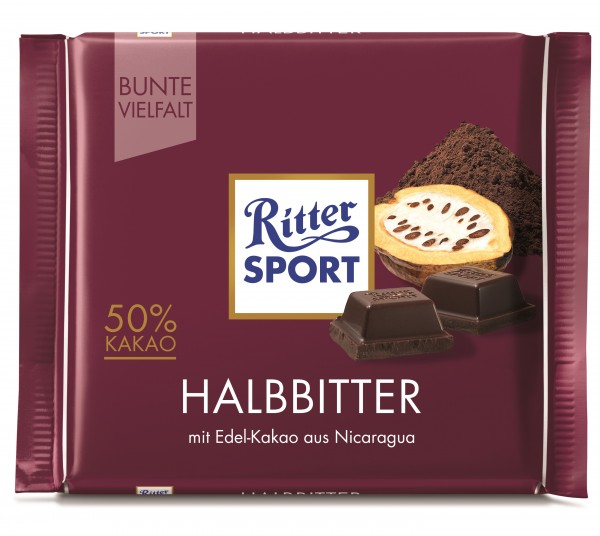 Ritter Sport Halbbitter, 100g