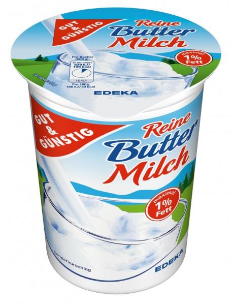Gut & Günstig reine Butterrmilch 500g