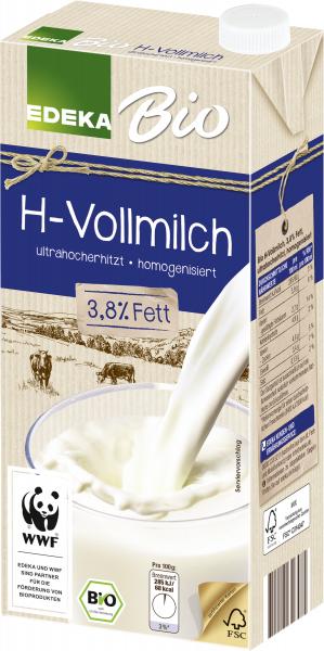 Bio EDEKA Haltbare Vollmilch 3,8% 1l