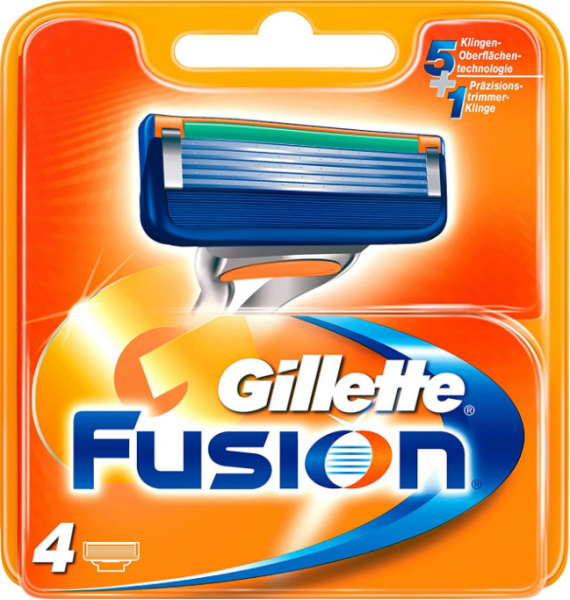 Gilette Fussion, 4er Packung