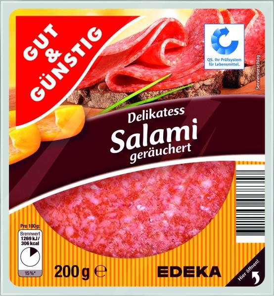 Gut & Günstig Delikatess Salami, 200g