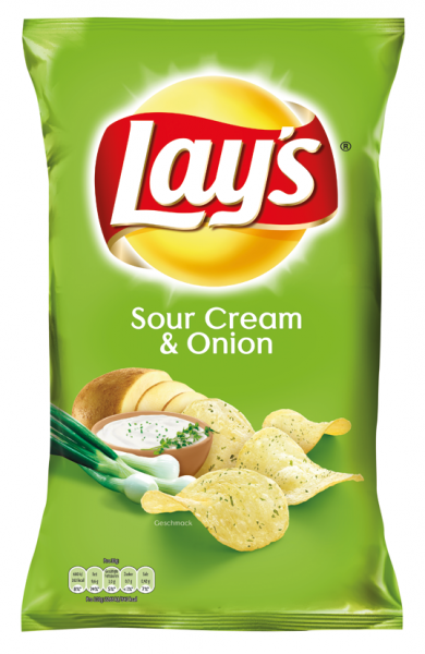 Lays Sour Cream & Onion Chips, 175g