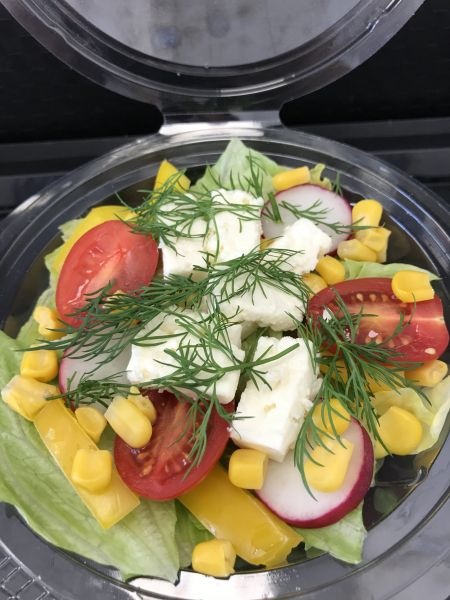 Gemüsesalat mit Hirtenkäse, ca. 200g Becher