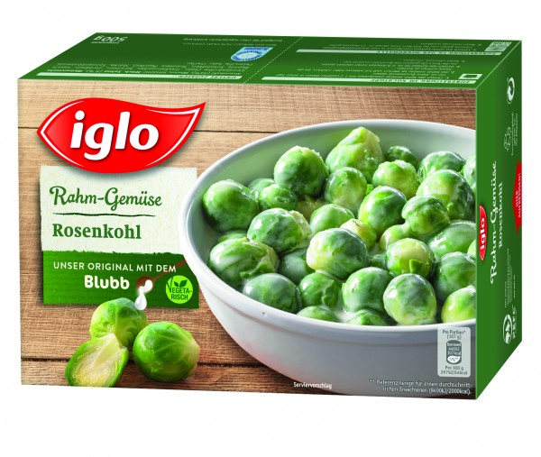 Iglo Rahm-Gemüse Rosenkohl, 500g