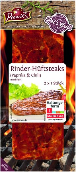 Premios Rinder-Hüftsteaks Paprika & Chili, 2 Stück