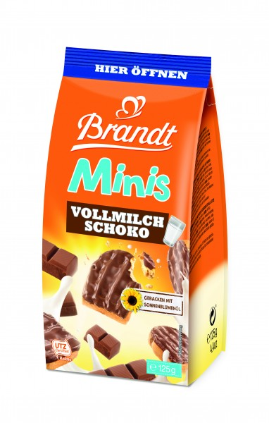 Brandt Minis Vollmilch Schoko, 125g