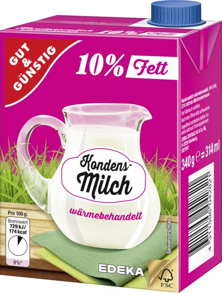 Gut & Günstig Kondensmilch 10% 340g