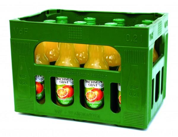 Sachsenobst Orangensaft, 12x0,2 Liter