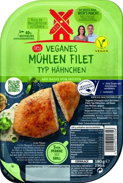 Rügenwalder Veganes Mühlen Filet Typ Hähnchen, 180g
