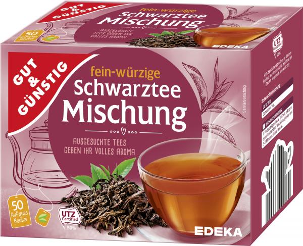 Gut & Günstig Schwarztee-Mischung, 50er
