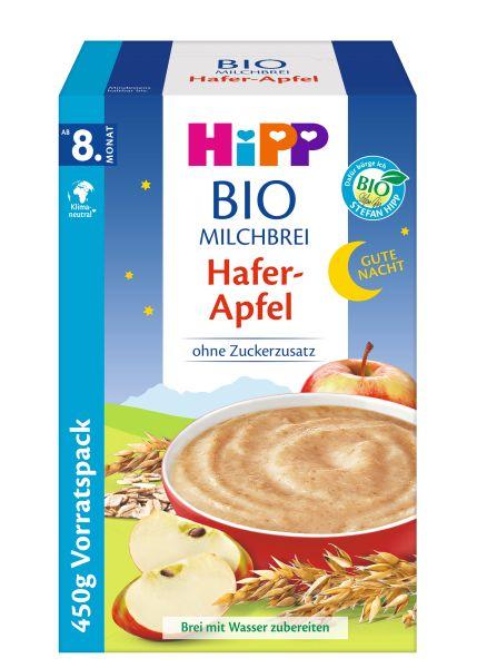 BIO HIPP Gute Nacht Milchbrei Hafer-Apfel 450g