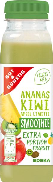 GUT&GÜNSTIG Smoothie Ananas-Kiwi-Apfel-Limette 250ml