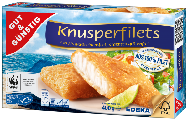 Gut & Günstig Knusperfilets, 400g