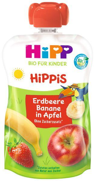 BIO HIPP HIPPIS Erdbeere Banane in Apfel 100g