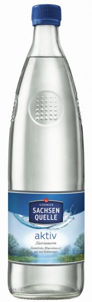 Ileburger Sachsenquelle aktiv Glasflasche 0,75L