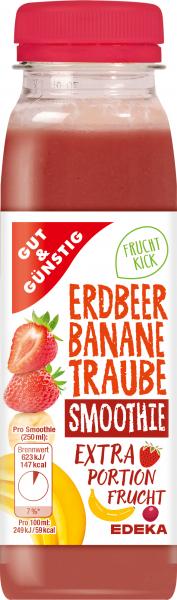 GUT&GÜNSTIG Smoothie Erdbeer-Banane-Traube 250ml