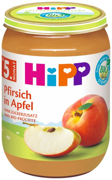 BIO HIPP Pfirsich in Apfel 190g