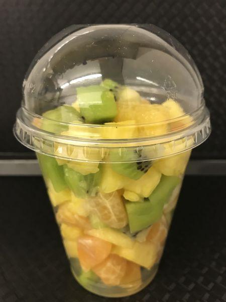 Fruchtbecher 11 mit Ananas, Kiwi grün und Clementinen, ca. 200g Becher