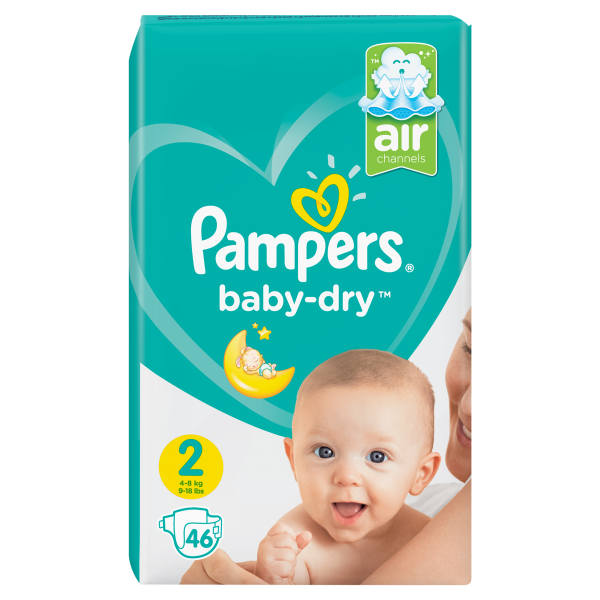 Pampers Baby Dry2 Mini, 46er