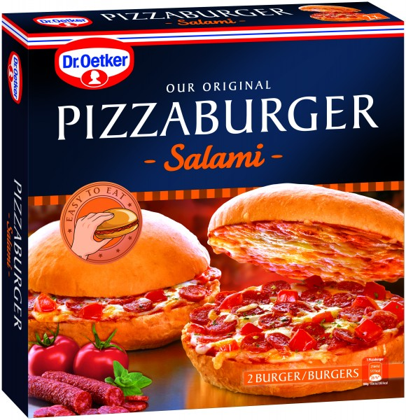 Dr. Oetker Pizzaburger Salami, 365g