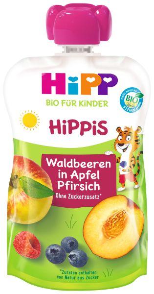 BIO HIPP HIPPIS Waldfrucht, Pfirsich, Apfel 100G