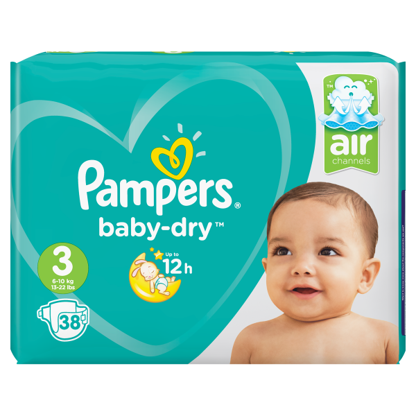 Pampers Baby Dry3 Midi, 38er